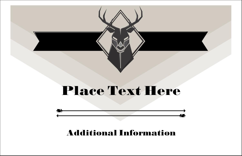 "5½"" x 8½"" Greeting Card - Letterpress Masculine Buck"