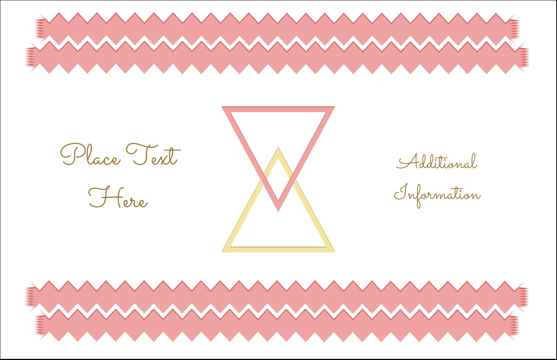 "5½"" x 8½"" Greeting Card - Letterpress Modern Triangles"