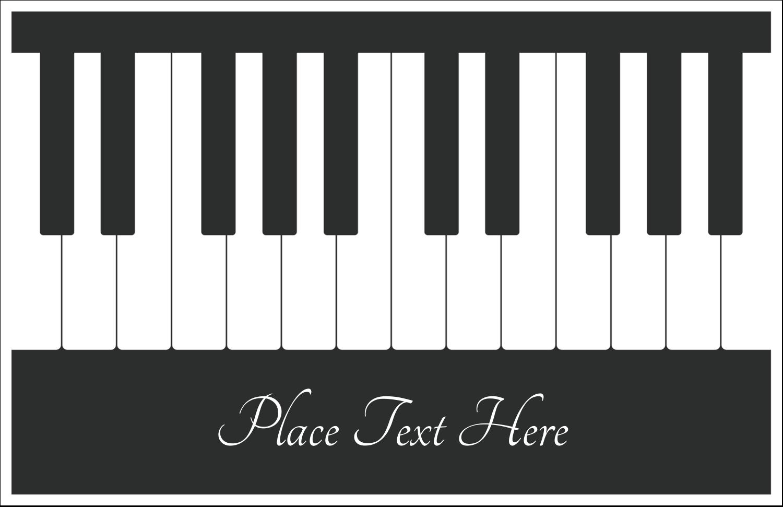 "5½"" x 8½"" Greeting Card - Music Keyboard"