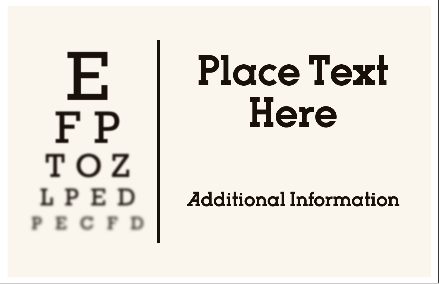 "5½"" x 8½"" Greeting Card - Optometrist Eye Chart"