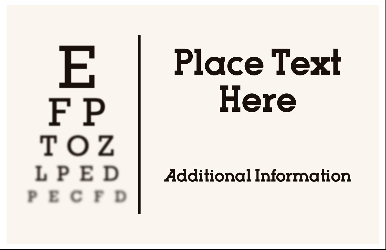 """5½"""" x 8½"""" Greeting Card - Optometrist Eye Chart"""