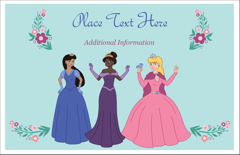 "5½"" x 8½"" Greeting Card - Princesses"