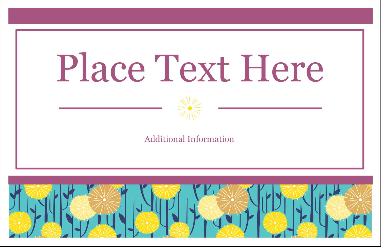 "5½"" x 8½"" Greeting Card - Dandelion Print"