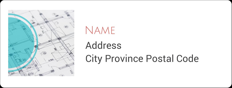 "1"" x 2⅝"" Address Label - Architecture"