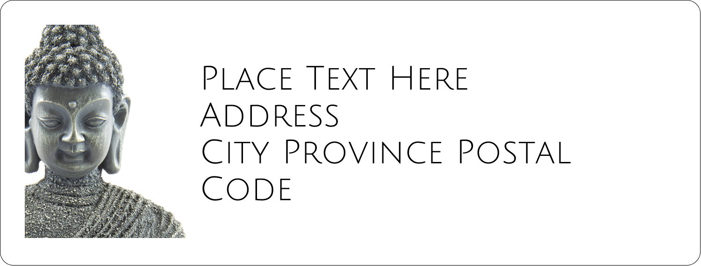 "1"" x 2⅝"" Address Label - Buddha"