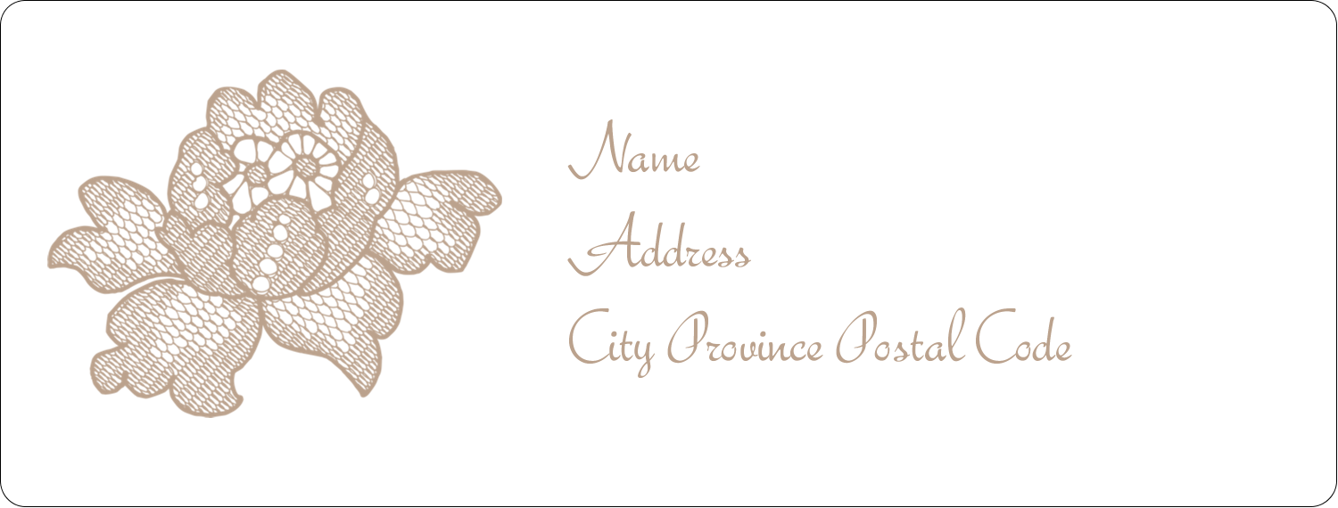 "1"" x 2⅝"" Address Label - Burlap Lace"