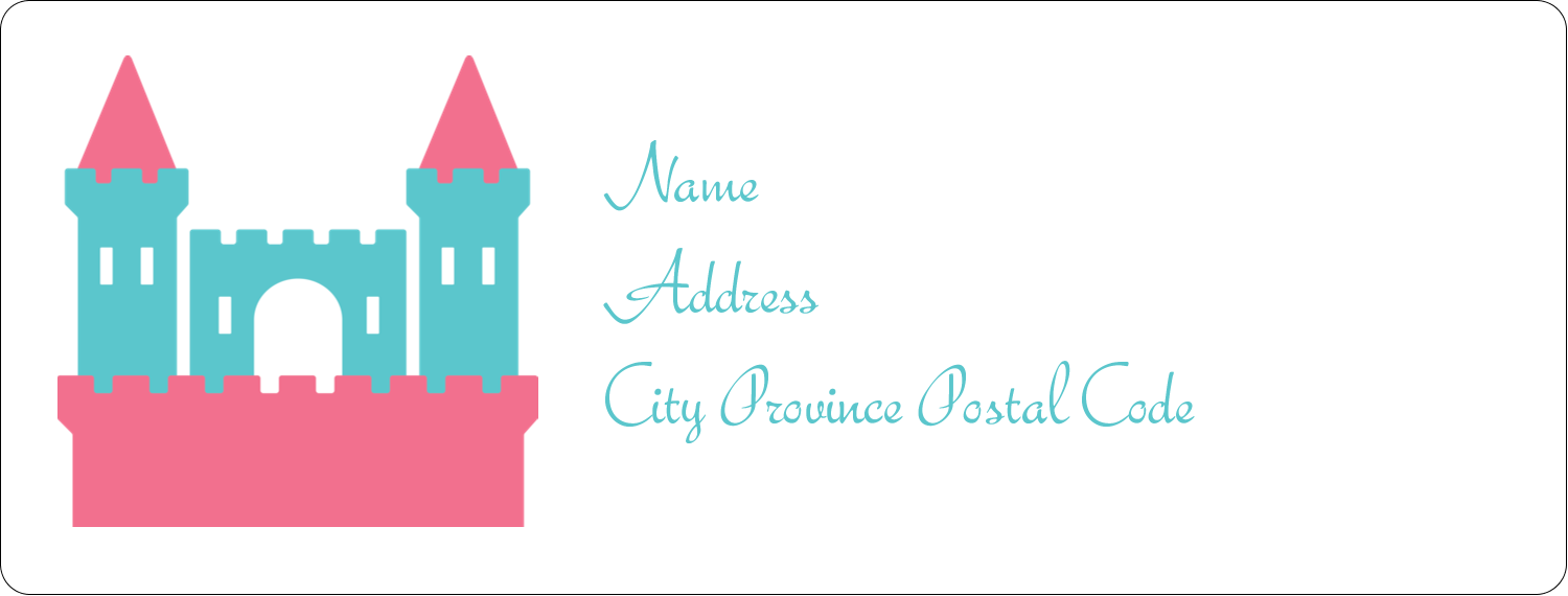 "1"" x 2⅝"" Address Label - Castle"
