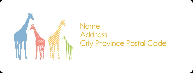 "1"" x 2⅝"" Address Label - Giraffe Party"