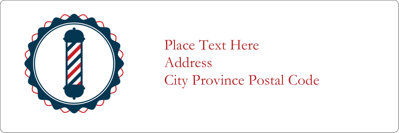 "1⅓"" x 4"" Address Label - Barber Pole"