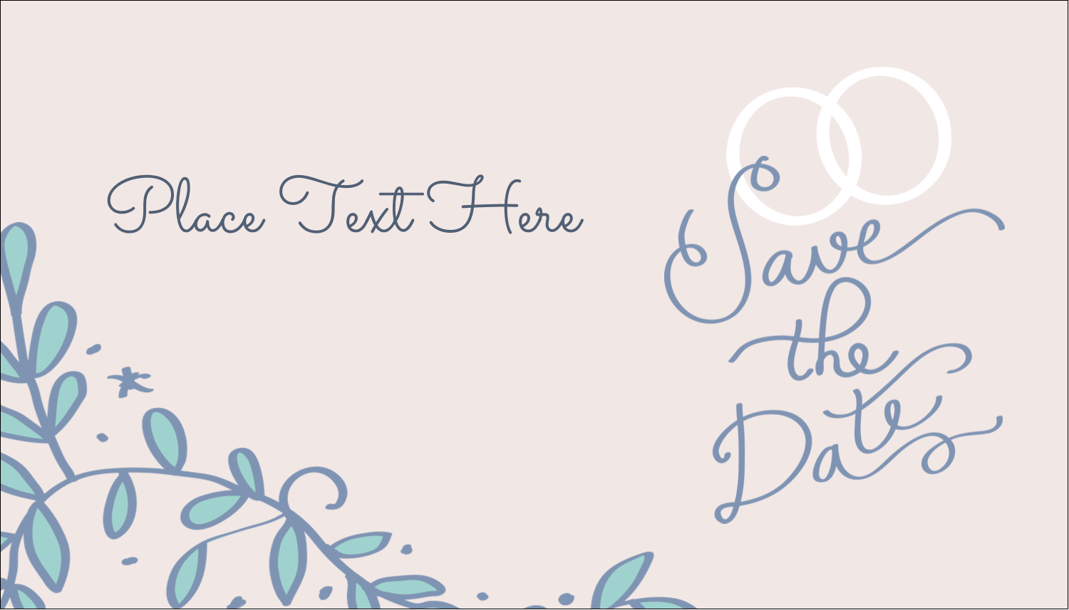 "2"" x 3½"" Business Card - Save the Date Blue"