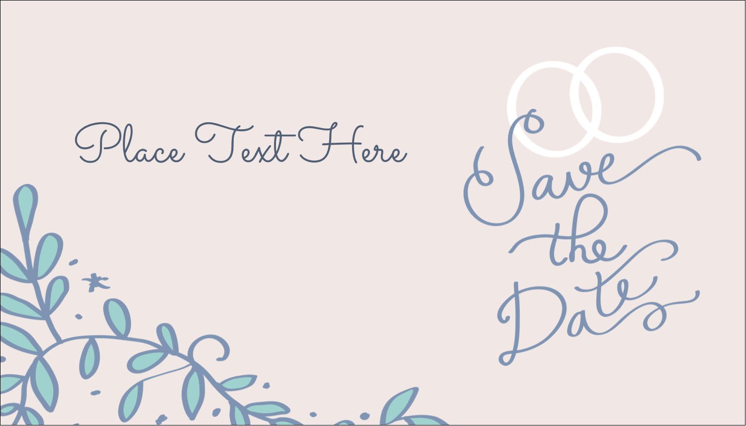 """2"""" x 3½"""" Business Card - Save the Date Blue"""