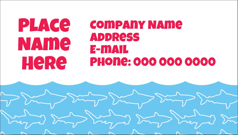 """2"""" x 3½"""" Business Card - Blue Sharks"""
