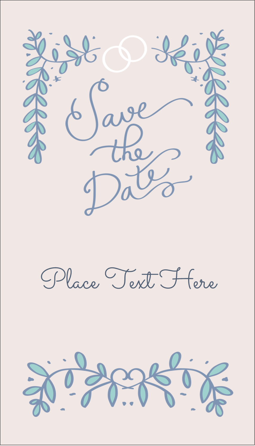"""3½"""" x 2"""" Business Card - Save the Date Blue"""