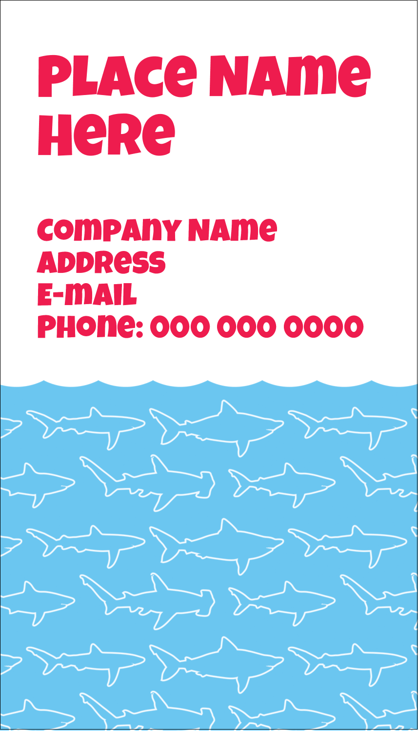 "3½"" x 2"" Business Card - Blue Sharks"