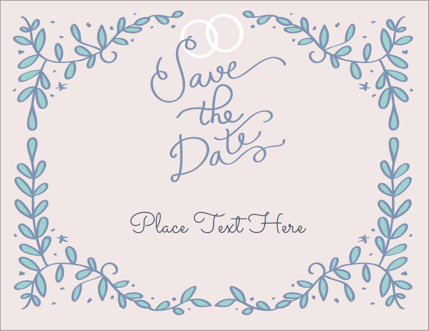 "4¼"" x 5½"" Postcard - Save the Date Blue"