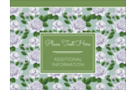 Add a splash of floral charm to your project with pre-designed Soap Green Flora templates.