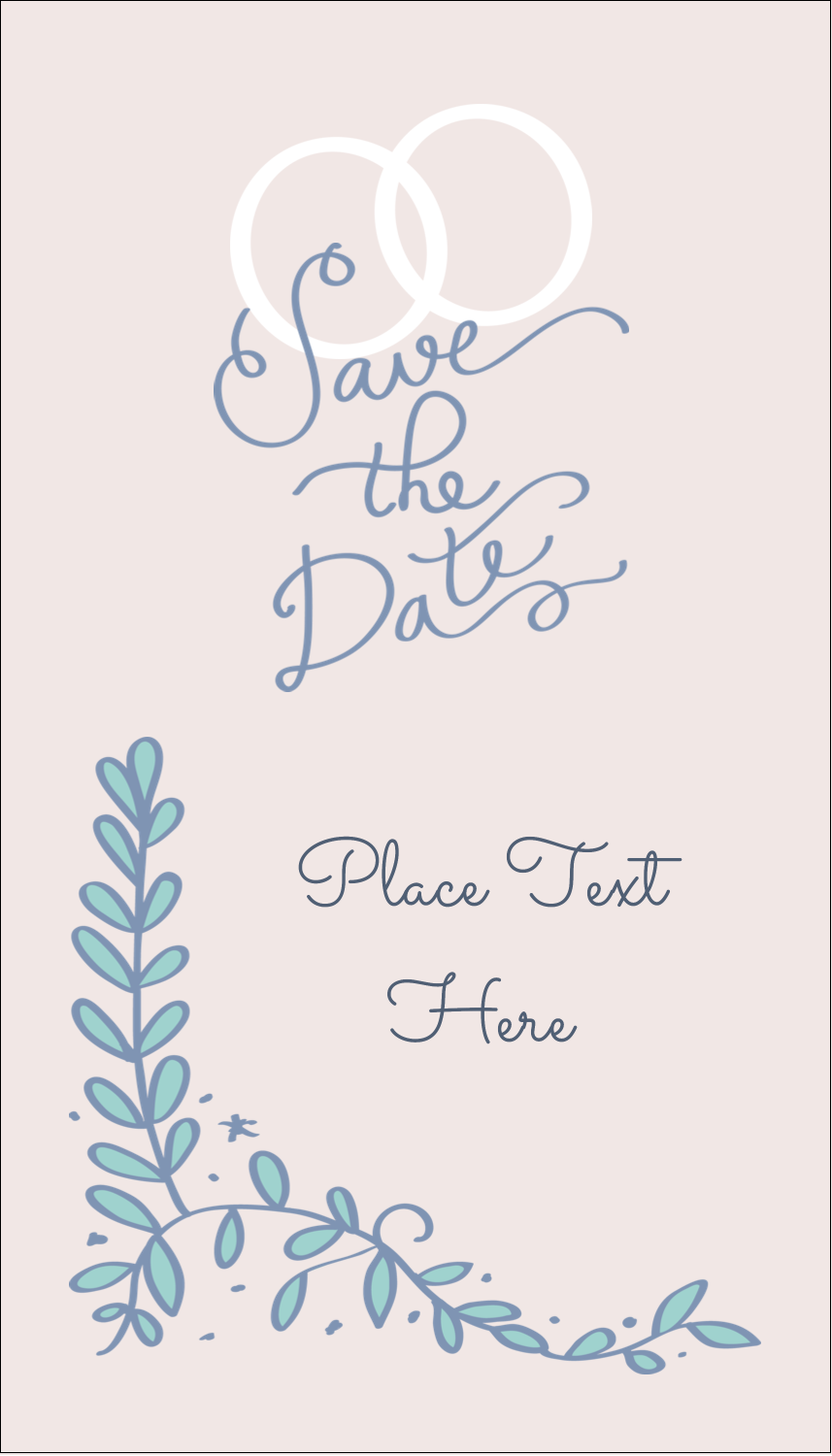 "3½"" x 2"" Business Card - Save the Date Blue"