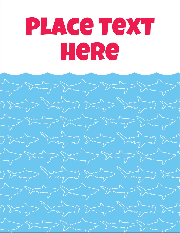 "5½"" x 4¼"" Postcard - Blue Sharks"