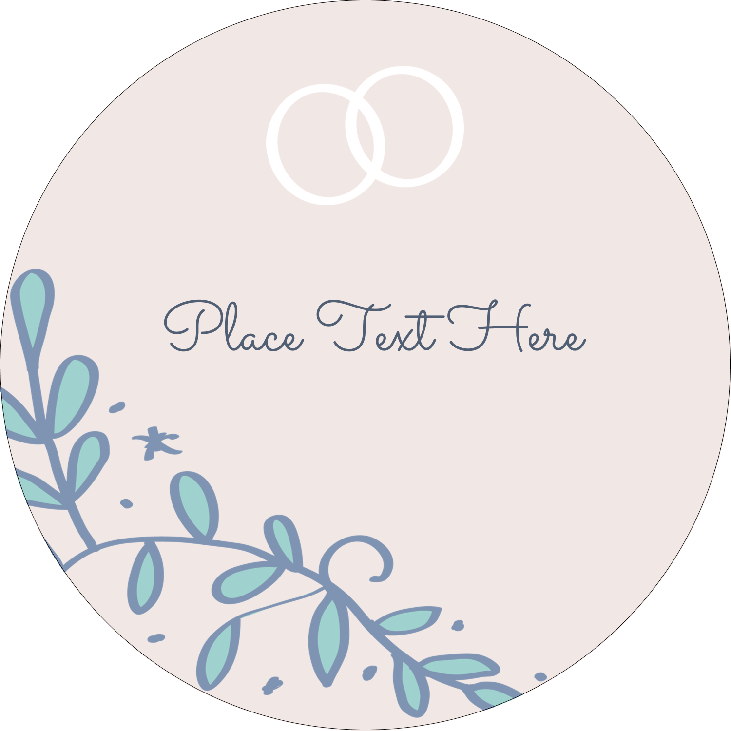 """3"""" Round Label - Save the Date Blue"""