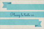 Ruban turquoise Étiquettes rectangulaires - gabarit prédéfini. <br/>Utilisez notre logiciel Avery Design & Print Online pour personnaliser facilement la conception.
