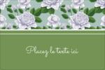 Savon fleurs vertes Étiquettes rectangulaires - gabarit prédéfini. <br/>Utilisez notre logiciel Avery Design & Print Online pour personnaliser facilement la conception.