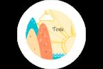 Surfeur rétro Étiquettes arrondies - gabarit prédéfini. <br/>Utilisez notre logiciel Avery Design & Print Online pour personnaliser facilement la conception.
