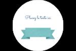 Ruban turquoise Étiquettes arrondies - gabarit prédéfini. <br/>Utilisez notre logiciel Avery Design & Print Online pour personnaliser facilement la conception.