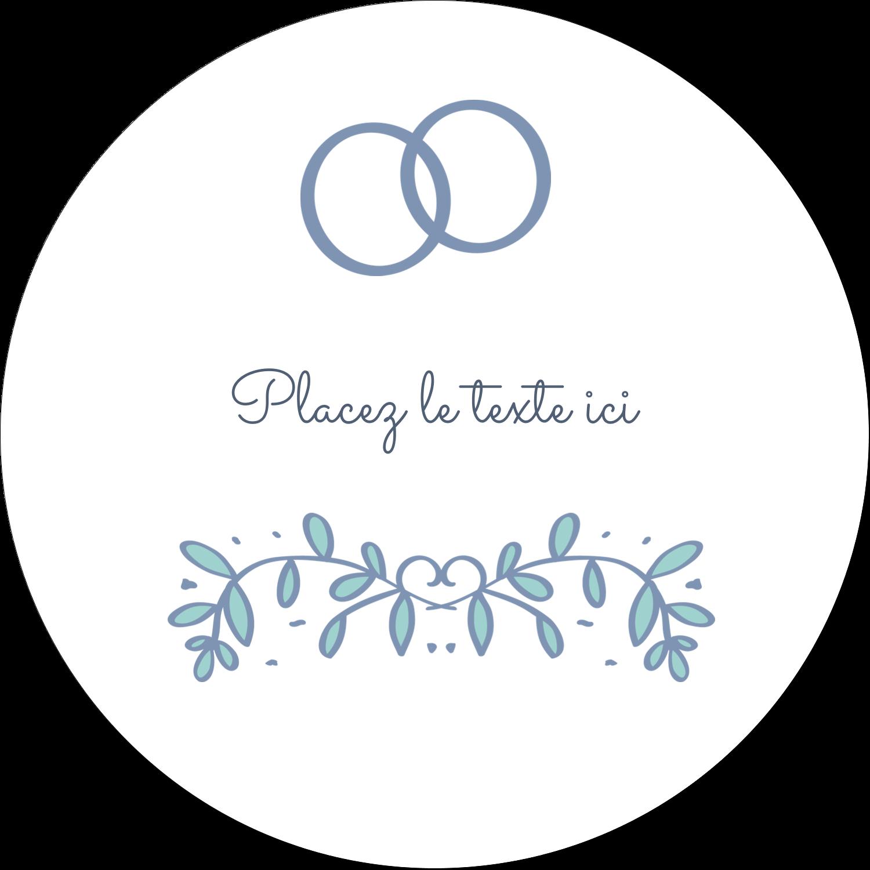 """4¾"""" x 3½"""" Étiquettes arrondies - Réservez la date bleu"""