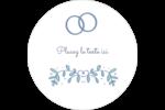 Réservez la date bleu Étiquettes arrondies - gabarit prédéfini. <br/>Utilisez notre logiciel Avery Design & Print Online pour personnaliser facilement la conception.
