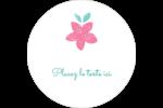 Craie florale Étiquettes arrondies - gabarit prédéfini. <br/>Utilisez notre logiciel Avery Design & Print Online pour personnaliser facilement la conception.