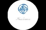 Roses bleues officielles Étiquettes arrondies - gabarit prédéfini. <br/>Utilisez notre logiciel Avery Design & Print Online pour personnaliser facilement la conception.
