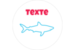 Requins bleus Étiquettes arrondies - gabarit prédéfini. <br/>Utilisez notre logiciel Avery Design & Print Online pour personnaliser facilement la conception.