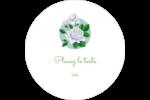 Savon fleurs vertes Étiquettes arrondies - gabarit prédéfini. <br/>Utilisez notre logiciel Avery Design & Print Online pour personnaliser facilement la conception.