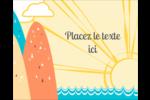 Surfeur rétro Étiquettes rondes gaufrées - gabarit prédéfini. <br/>Utilisez notre logiciel Avery Design & Print Online pour personnaliser facilement la conception.