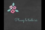 Craie florale Étiquettes rondes gaufrées - gabarit prédéfini. <br/>Utilisez notre logiciel Avery Design & Print Online pour personnaliser facilement la conception.