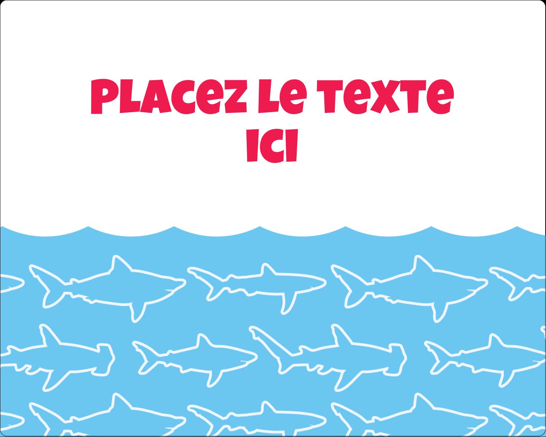 """2"""" Diameter Étiquettes rondes gaufrées - Requins bleus"""