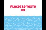 Requins bleus Étiquettes rondes gaufrées - gabarit prédéfini. <br/>Utilisez notre logiciel Avery Design & Print Online pour personnaliser facilement la conception.