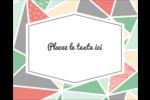 Mosaïque tangram rose et verte  Étiquettes rondes gaufrées - gabarit prédéfini. <br/>Utilisez notre logiciel Avery Design & Print Online pour personnaliser facilement la conception.