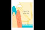 Surfeur rétro Étiquettes rondes - gabarit prédéfini. <br/>Utilisez notre logiciel Avery Design & Print Online pour personnaliser facilement la conception.
