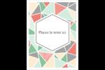 Mosaïque tangram rose et verte  Étiquettes rondes - gabarit prédéfini. <br/>Utilisez notre logiciel Avery Design & Print Online pour personnaliser facilement la conception.