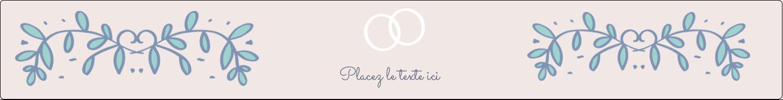 """1½"""" x 2½"""" Étiquettes ovales - Réservez la date bleu"""