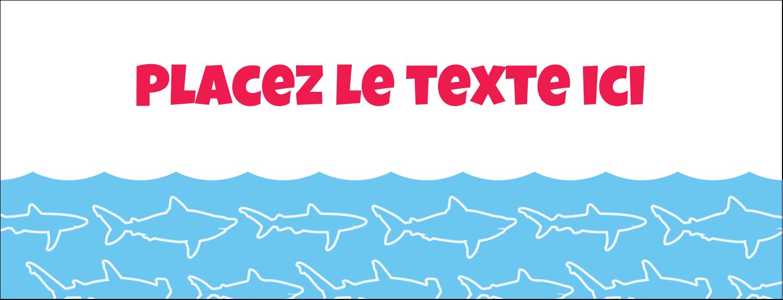 """1-7/16"""" x 3¾"""" Affichette - Requins bleus"""