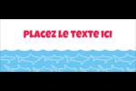 Requins bleus Affichette - gabarit prédéfini. <br/>Utilisez notre logiciel Avery Design & Print Online pour personnaliser facilement la conception.