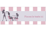 Salon Silhouette Étiquettes D'Adresse - gabarit prédéfini. <br/>Utilisez notre logiciel Avery Design & Print Online pour personnaliser facilement la conception.