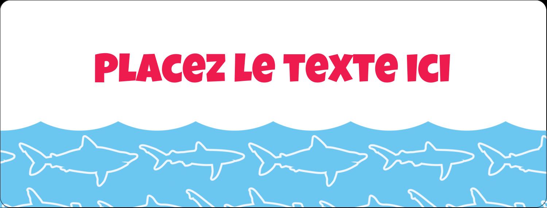 """1"""" x 4"""" Étiquettes d'adresse - Requins bleus"""