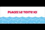 Requins bleus Étiquettes d'adresse - gabarit prédéfini. <br/>Utilisez notre logiciel Avery Design & Print Online pour personnaliser facilement la conception.