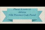 Ruban turquoise Étiquettes D'Adresse - gabarit prédéfini. <br/>Utilisez notre logiciel Avery Design & Print Online pour personnaliser facilement la conception.