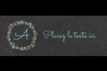 Craie florale Étiquettes D'Adresse - gabarit prédéfini. <br/>Utilisez notre logiciel Avery Design & Print Online pour personnaliser facilement la conception.