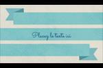 Ruban turquoise Carte d'affaire - gabarit prédéfini. <br/>Utilisez notre logiciel Avery Design & Print Online pour personnaliser facilement la conception.