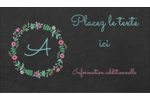 Craie florale Carte d'affaire - gabarit prédéfini. <br/>Utilisez notre logiciel Avery Design & Print Online pour personnaliser facilement la conception.